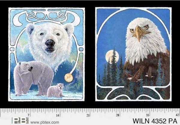 Panel Wildlife Nouveau by Jon Van Zyle