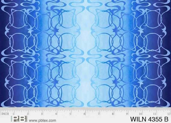 Wildlife Nouveau by Jon Van Zyle-Border blue