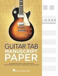 GUITAR TAB MANUSCRIPT PAPER 8 1/2 X 11 80 PERFORATED PAGES