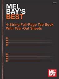 MEL BAYS BEST 4 STRING FULL PAGE TAB BOOK