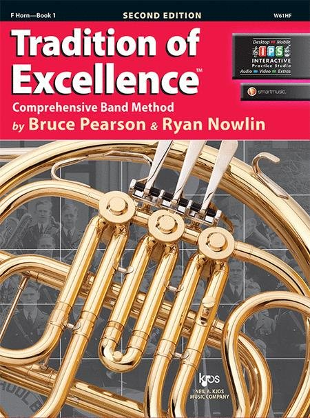 TRADITION OF EXCELLENCE 1 HORN IN F 2ND EDITION PEARSON NOWL