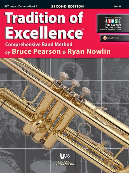 TRADITION OF EXCELLENCE 1 TRUMPET 2ND EDITION PEARSON NOWLIN