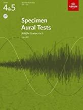 SPECIMEN AURAL TESTS 4 - 5 ASSOCIATED BOARD (9781848492523 ) (Piano Methods )
