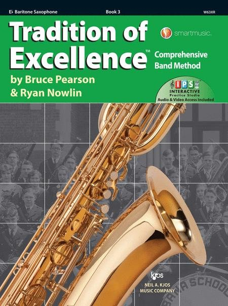 TRADITION OF EXCELLENCE 3 SAXOPHONE BARITONE EB PEARSON NOWL