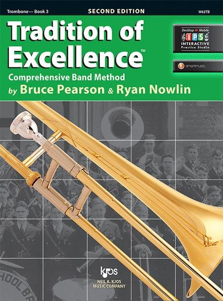 TRADITION OF EXCELLENCE 3 TROMBONE 2ND EDITION PEARSON NOWLI