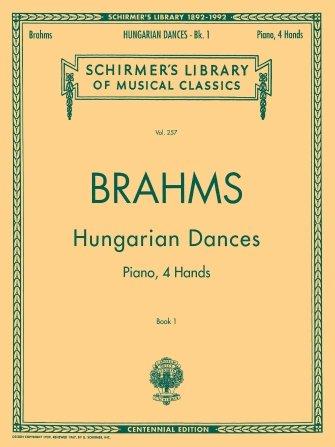 BRAHMS HUNGARIAN DANCES 1 SCHIR (Piano Duet Books )