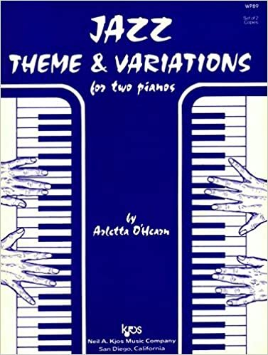 JAZZ THEME & VARIATIONS FOR 2 PIANOS OHEARN FED20 FED24 FED0 (WP89 ) (Piano Ensemble )