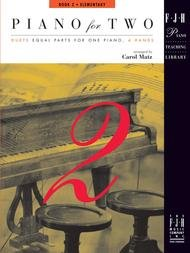 PIANO FOR TWO 2 ELEMENTARY MATZ FED03 FED10 (FJH1146 ) (Piano Duet Books )