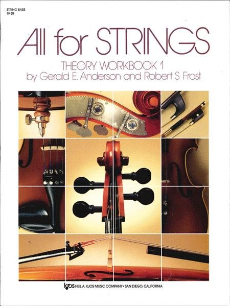 ALL FOR STRINGS THEORY WORKBOOK 1 STRING BASS ANDERSON FROST