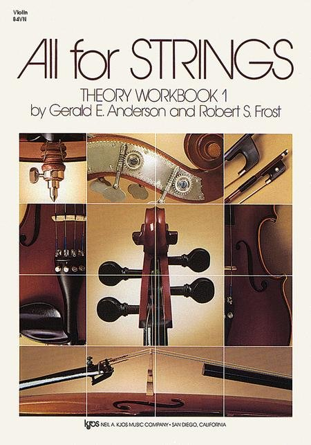 ALL FOR STRINGS THEORY WORKBOOK 1 VIOLIN ANDERSON FROST