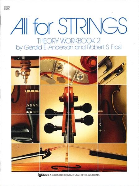 ALL FOR STRINGS THEORY WORKBOOK 2 CELLO ANDERSON FROST