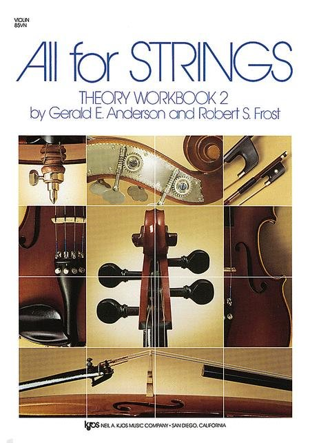 ALL FOR STRINGS THEORY WORKBOOK 2 VIOLIN ANDERSON FROST