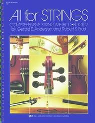 ALL FOR STRINGS 2 CONDUCTOR SCORE & MANUAL ANDERSON FROST