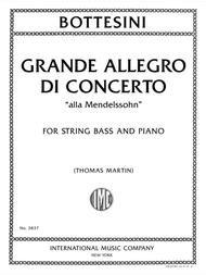 GRANDE ALLEGRO DE CONCERTO ALLA MENDELSSOHN WITH PIANO ACCOM (3837 )