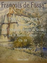 DUO CONCERTANT OP 16 PIANO & GUITAR DE FOSSA CARNIER