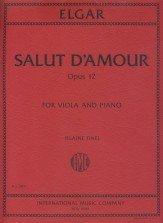 SALUT D AMOUR OP 12 WITH PIANO ACCOMPANIMENT ELGAR FINE (3851 ) (Viola Solos )