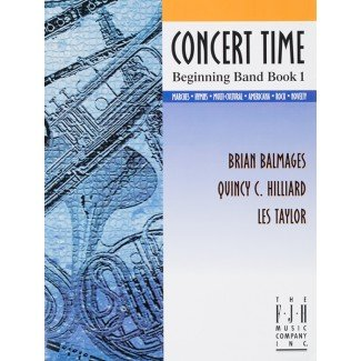 CONCERT TIME BEGINNING BAND BOOK 1 PERCUSSION BALMAGES HILLI