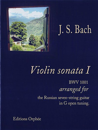 VIOLIN SONATA 1 FOR 7 STRING GUITAR BACH OPHEE