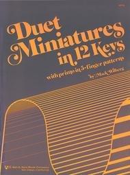 DUET MINIATURES IN 12 KEYS WILBERG (WP94 ) (Piano Duet Books )
