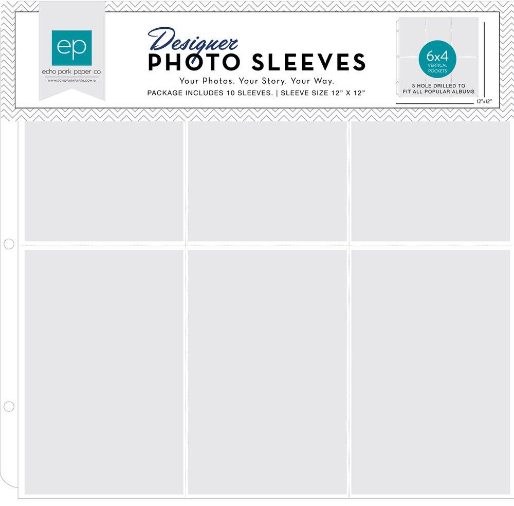 6x4 vertical photo sleeve - 12x12 - 10pk