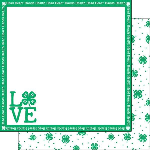 4-H Love, 12x12 paper, dbl sided