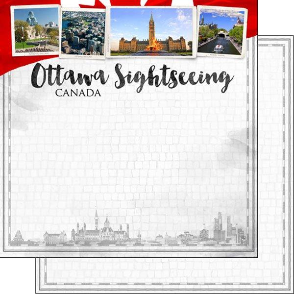 Ottawa city sights, 12x12 paper, dbl sided