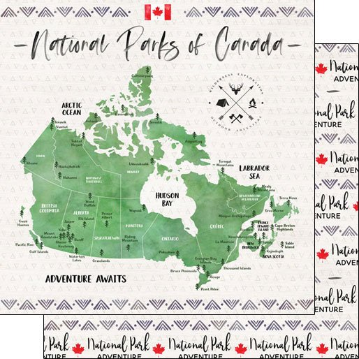 National Parks Canada, 12x12 dbl sided