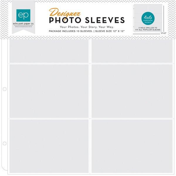 4x6 Horizontal Sheet Photo Sleeve -12x12- 10pk