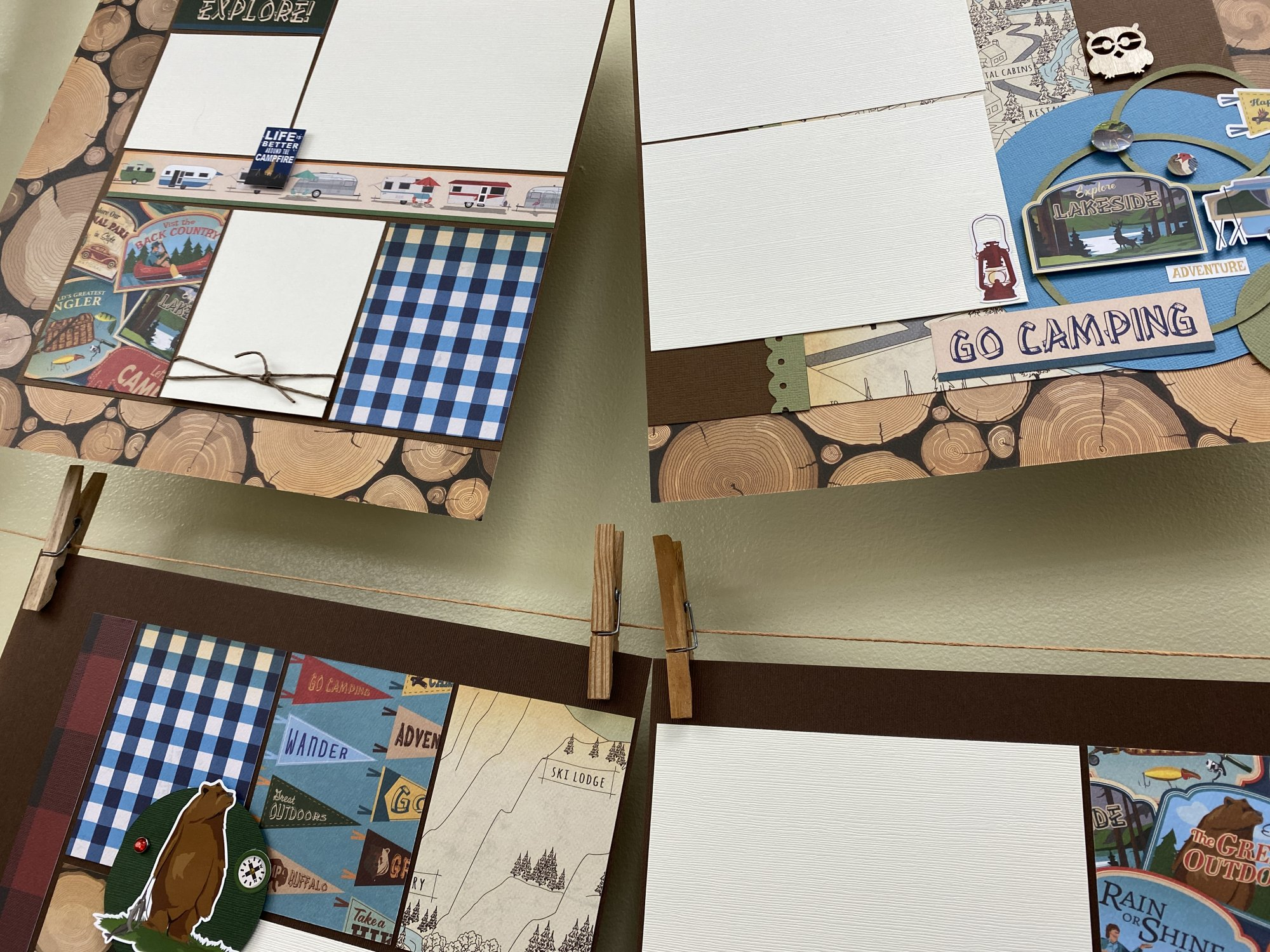 Summer Layouts (2 double page layout) kit