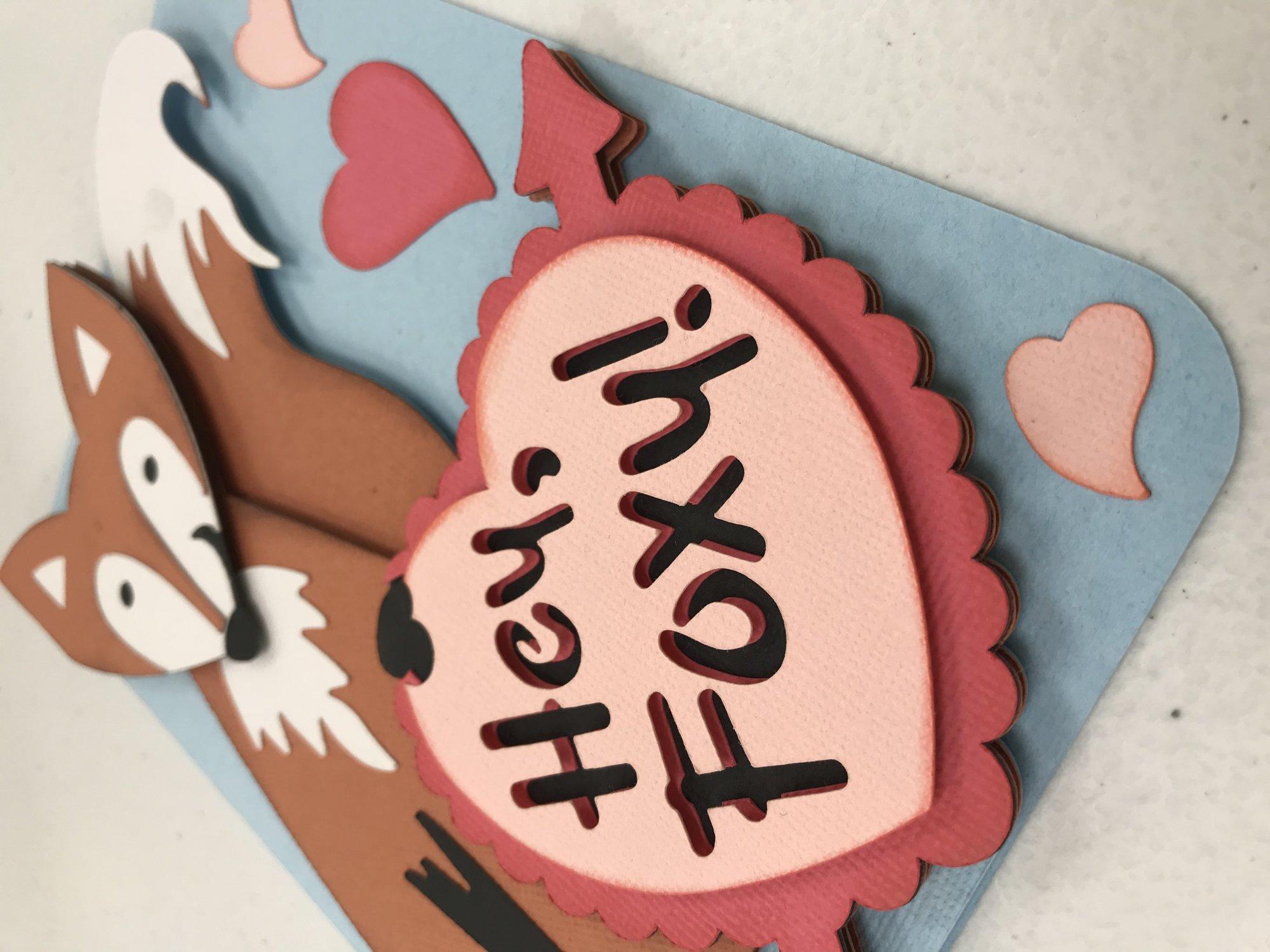Hey Foxy! Valentine's/Love Card