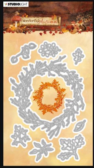 SL Wonderful Autumn Wreath Builder die set