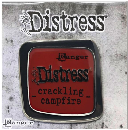 Distress Enamel Collector Pin: crackling campfire