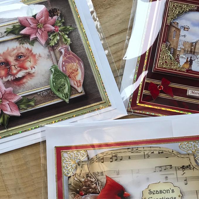 3D Christmas Cards (framed Santa)