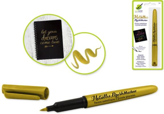 Metallic Brush Marker 6.8mm Gold