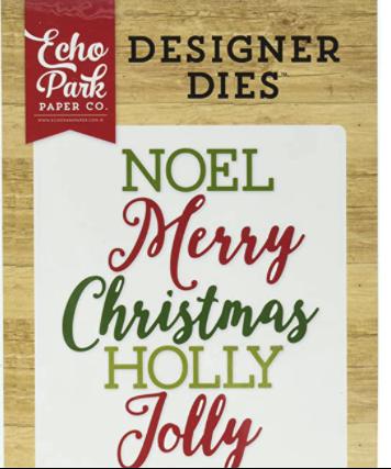 CHRISTMAS WORDS #2 DIE SET