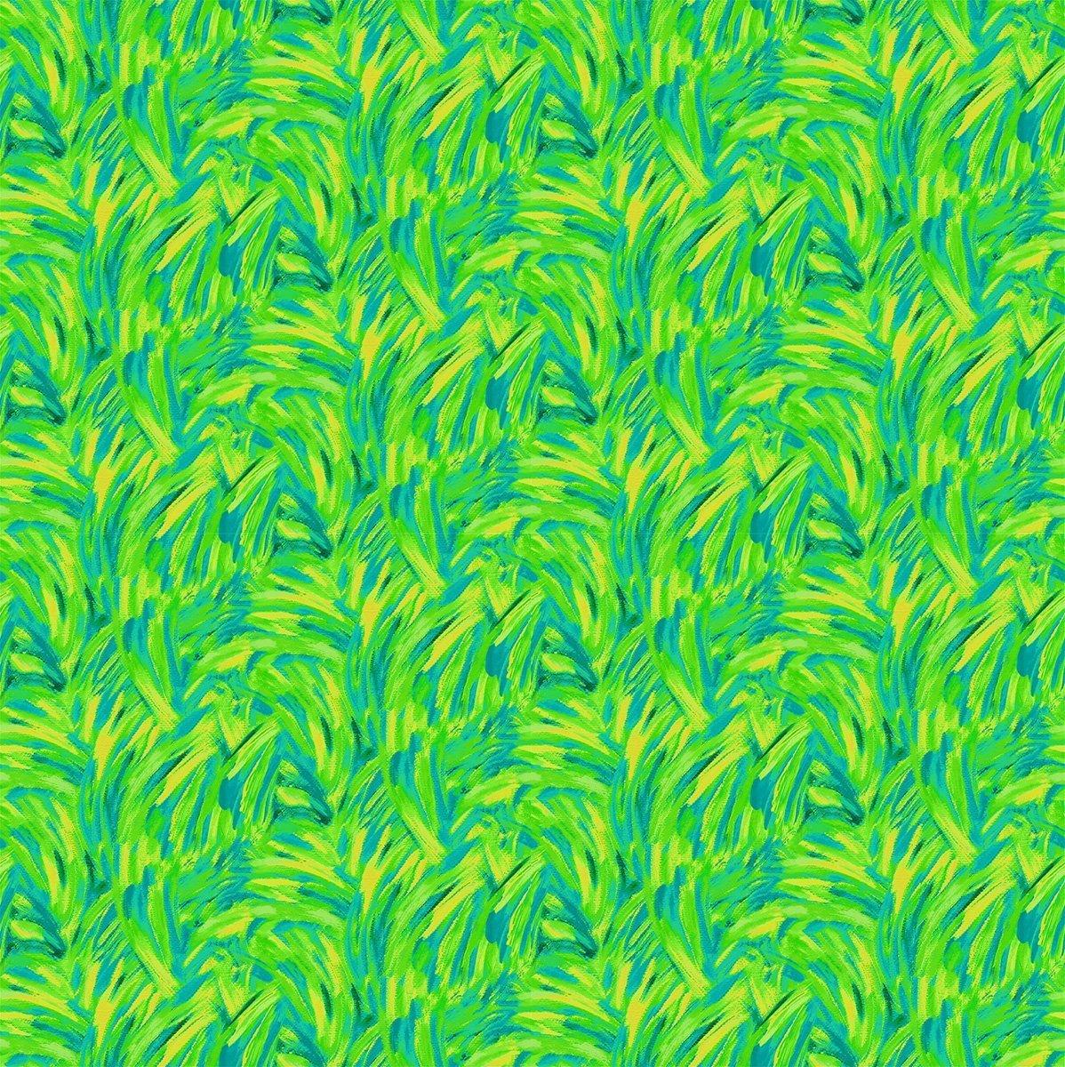 Flamingo Abstract Green Yellow