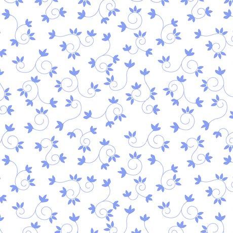 FLAMINGO FANTASTICO - LEAF SCROLL, WHITE