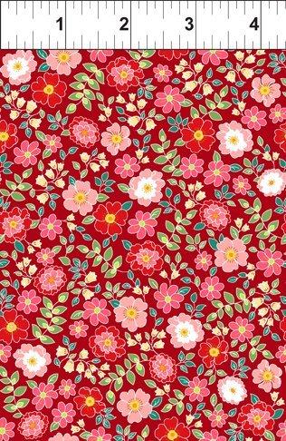 Garden Delights II - Garden Blooms - Red