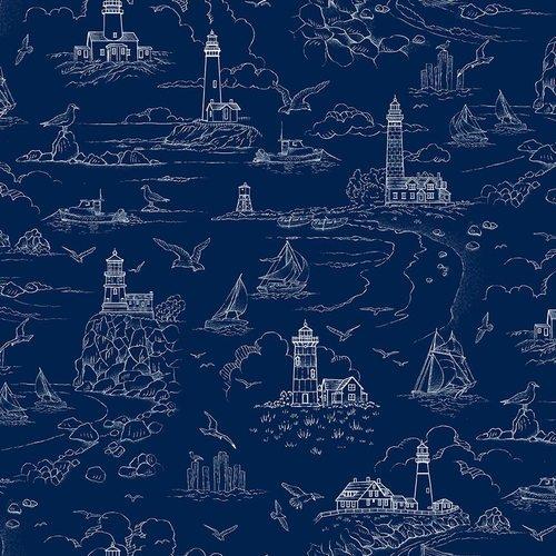 Lighthouse Sketch - Dark Blue