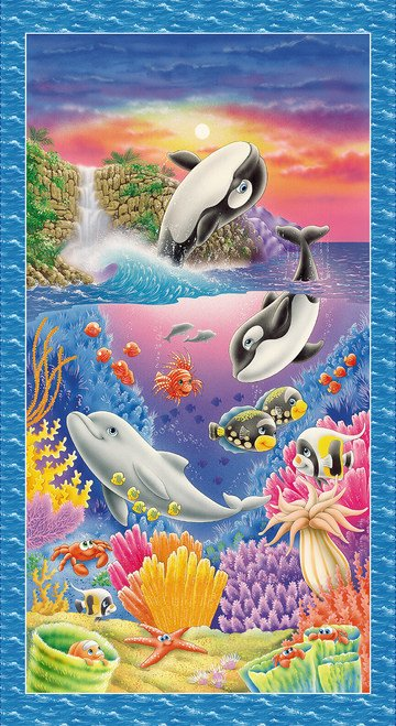 SEA WORLD - SEA CREATURE BANNER PANEL