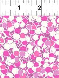 Garden Delights II - Roses, Puffs, Pink