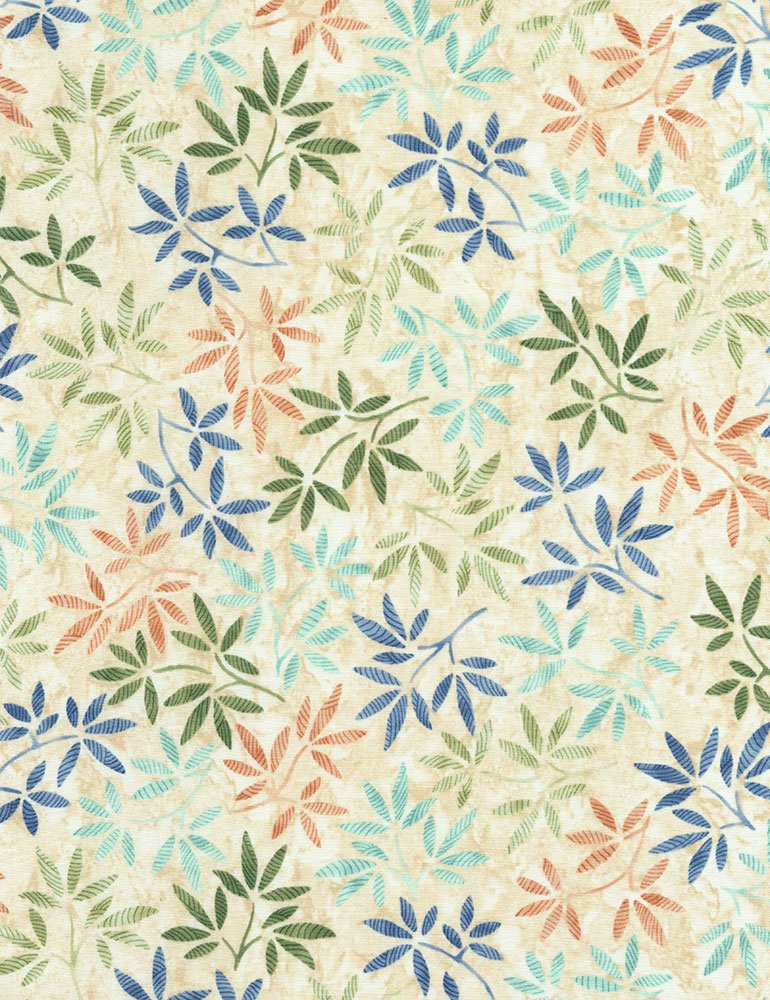 WILDFLOWERS BATIK - NATURAL