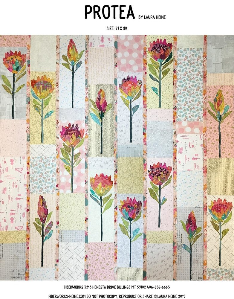 Protea Pattern by Laura Heine