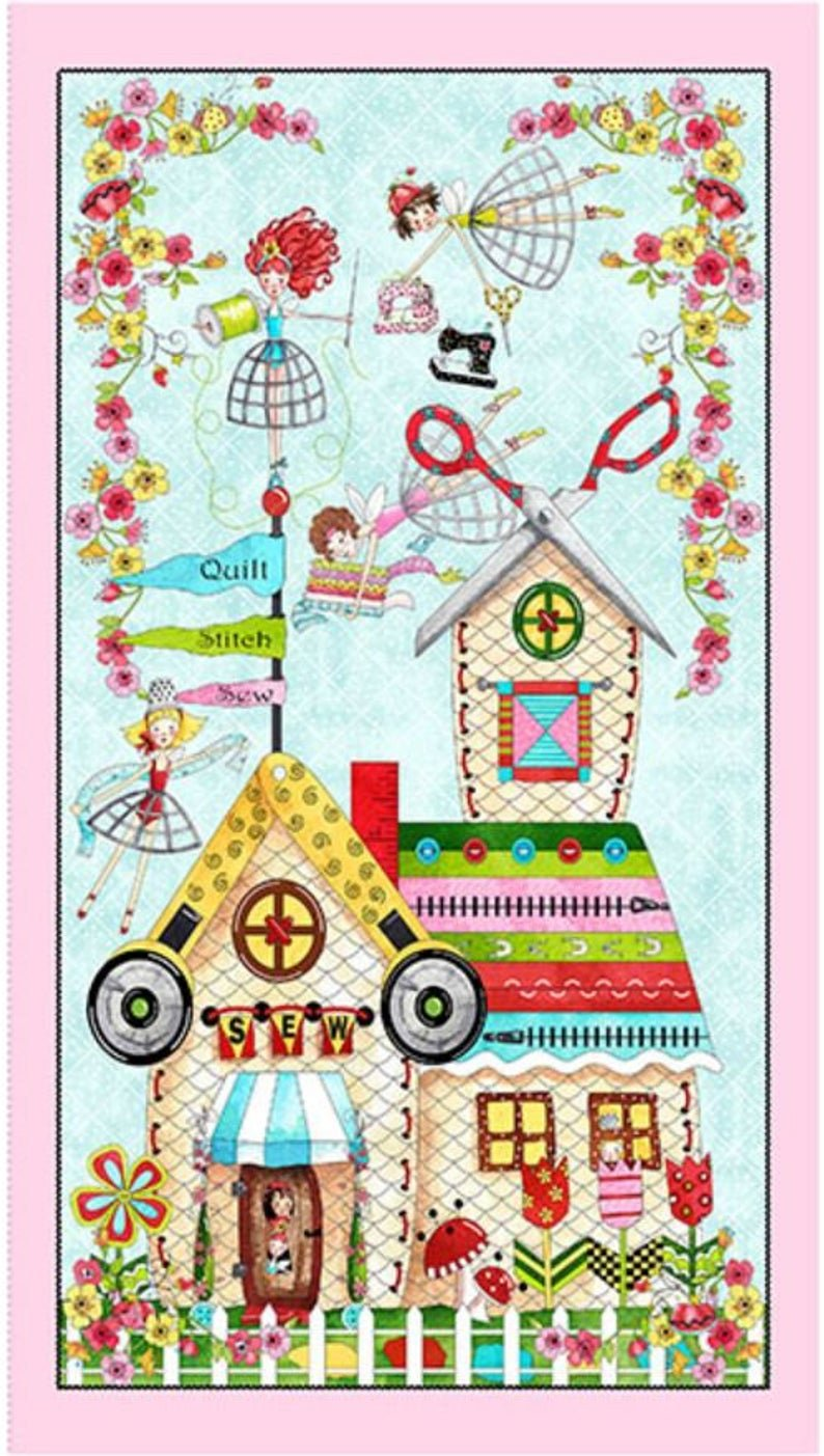 Quilted Cottage Panel