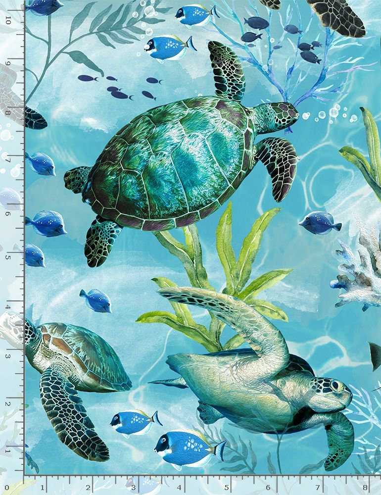 SWIMMING SEA TURTLES