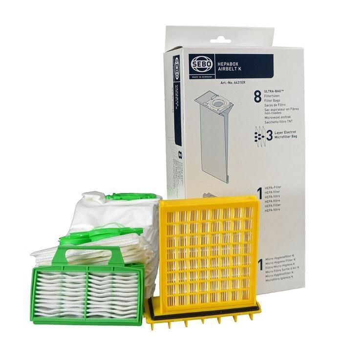 Sebo HEPA Service Box Airbelt K 8 Ultra Bags With Hepa Filter 6431ER