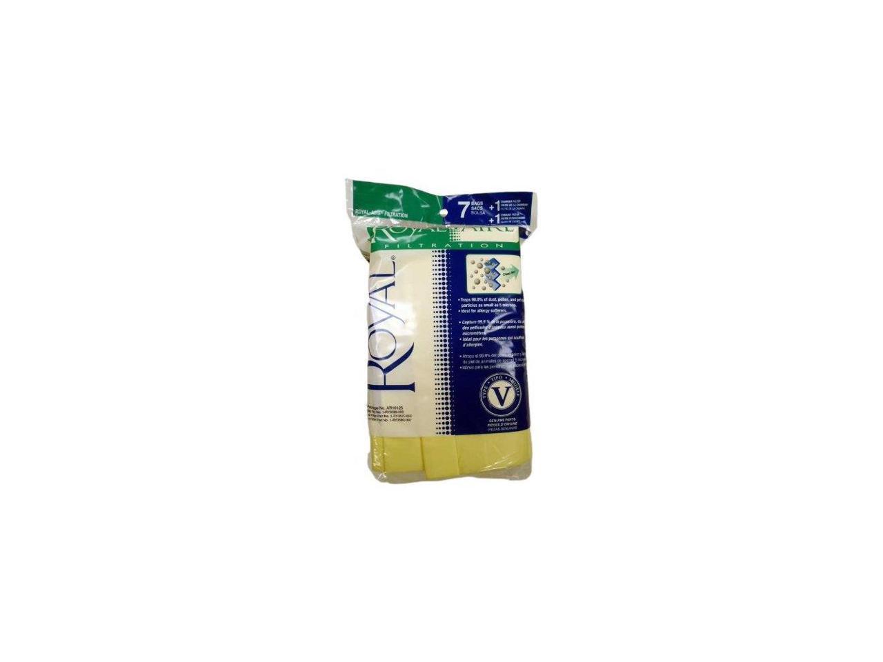 7pk V Bags W/Filter