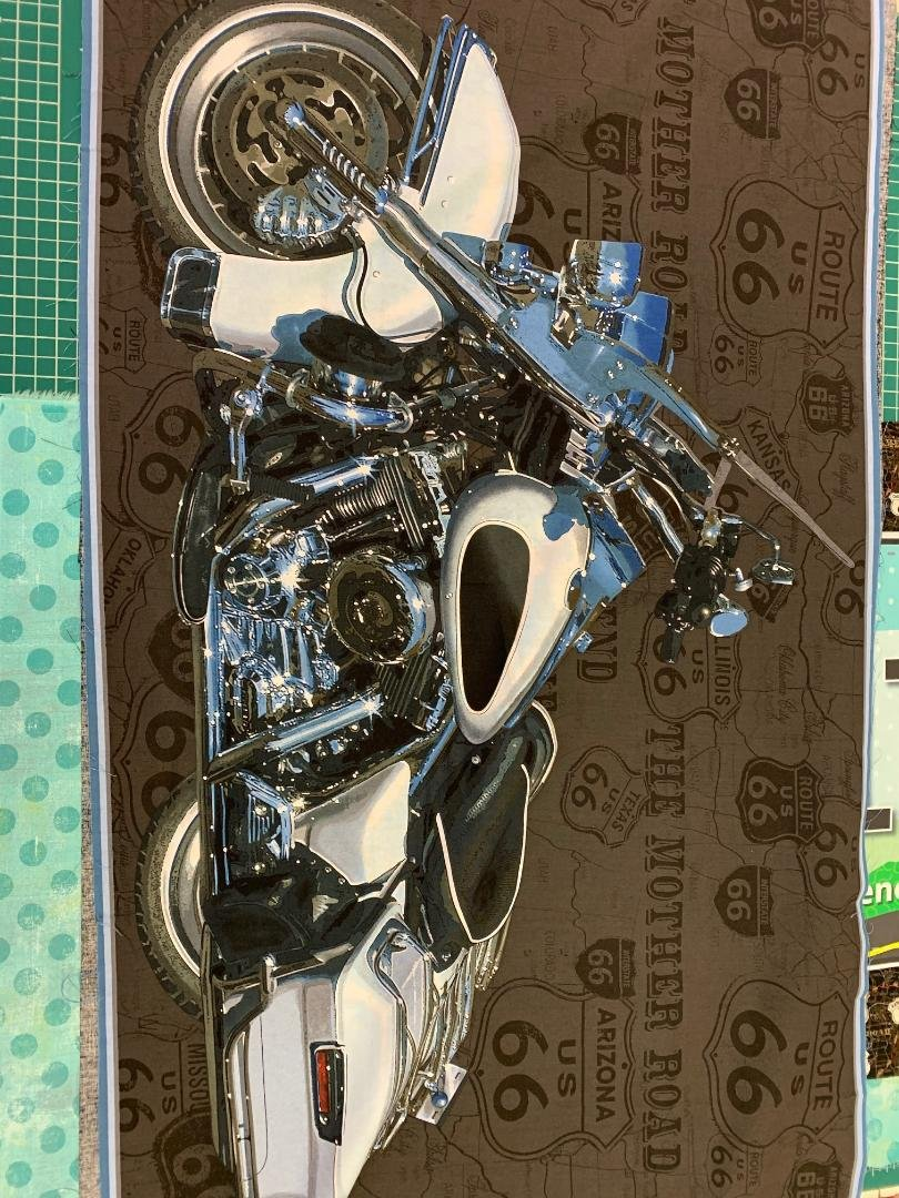 Route 66 motorcycle panel