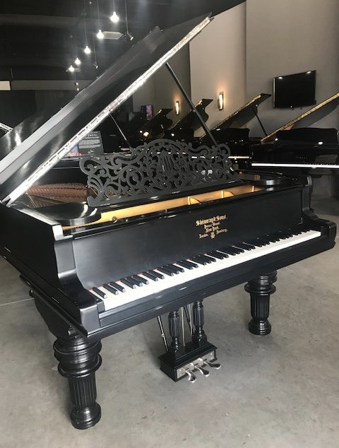 Steinway B Satin Ebony Used Grand