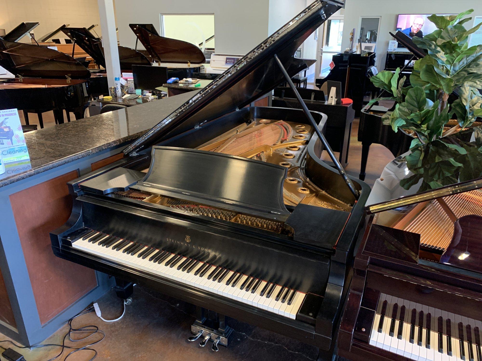 Steinway D Ebony Satin Concert Grand USED 3527